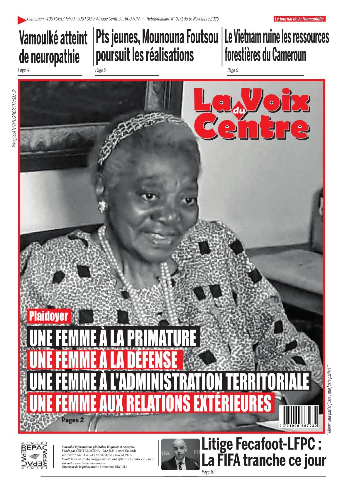 LA VOIX DU CENTRE - 16/11/2020