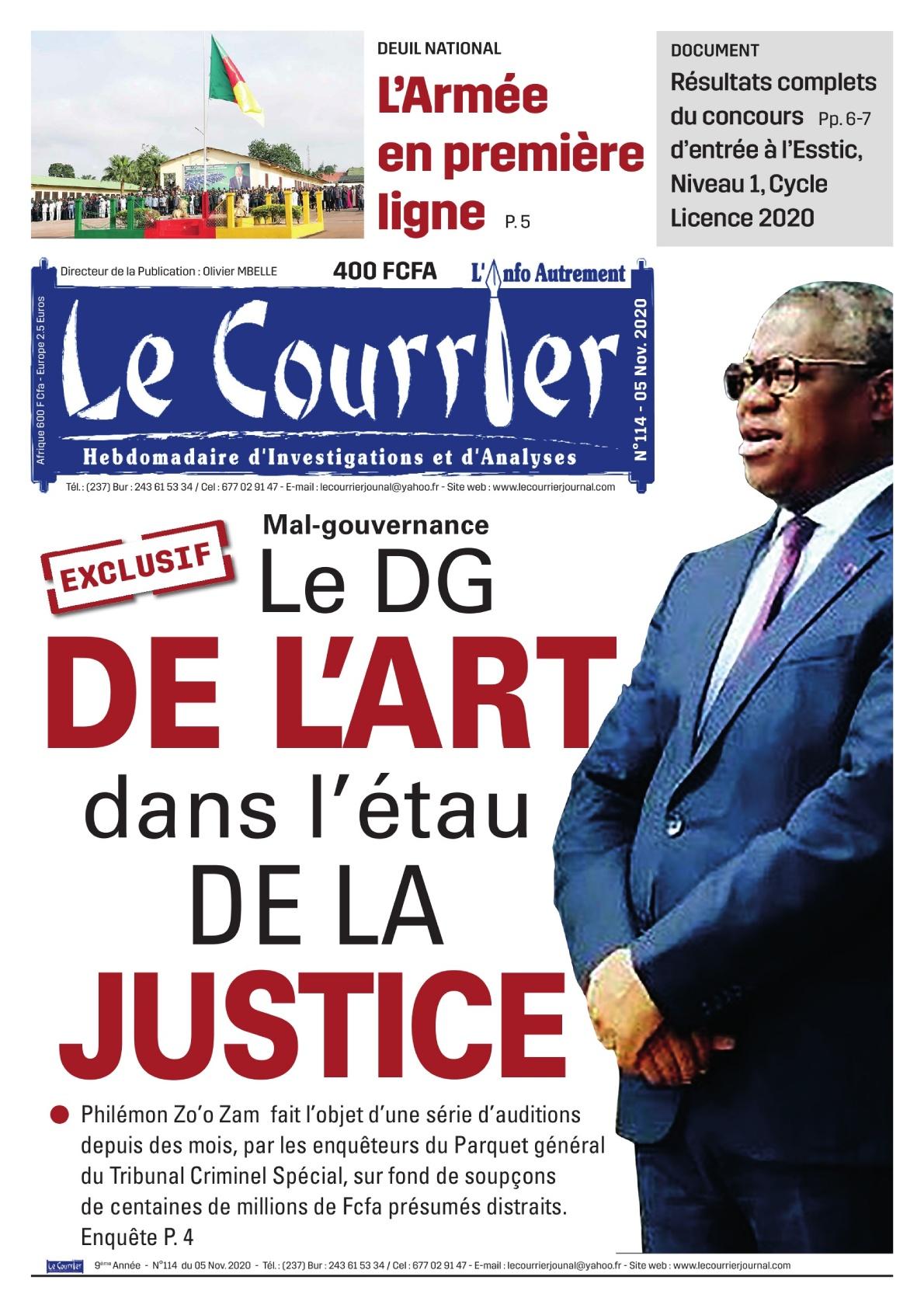 LE COURRIER - 05/11/2020