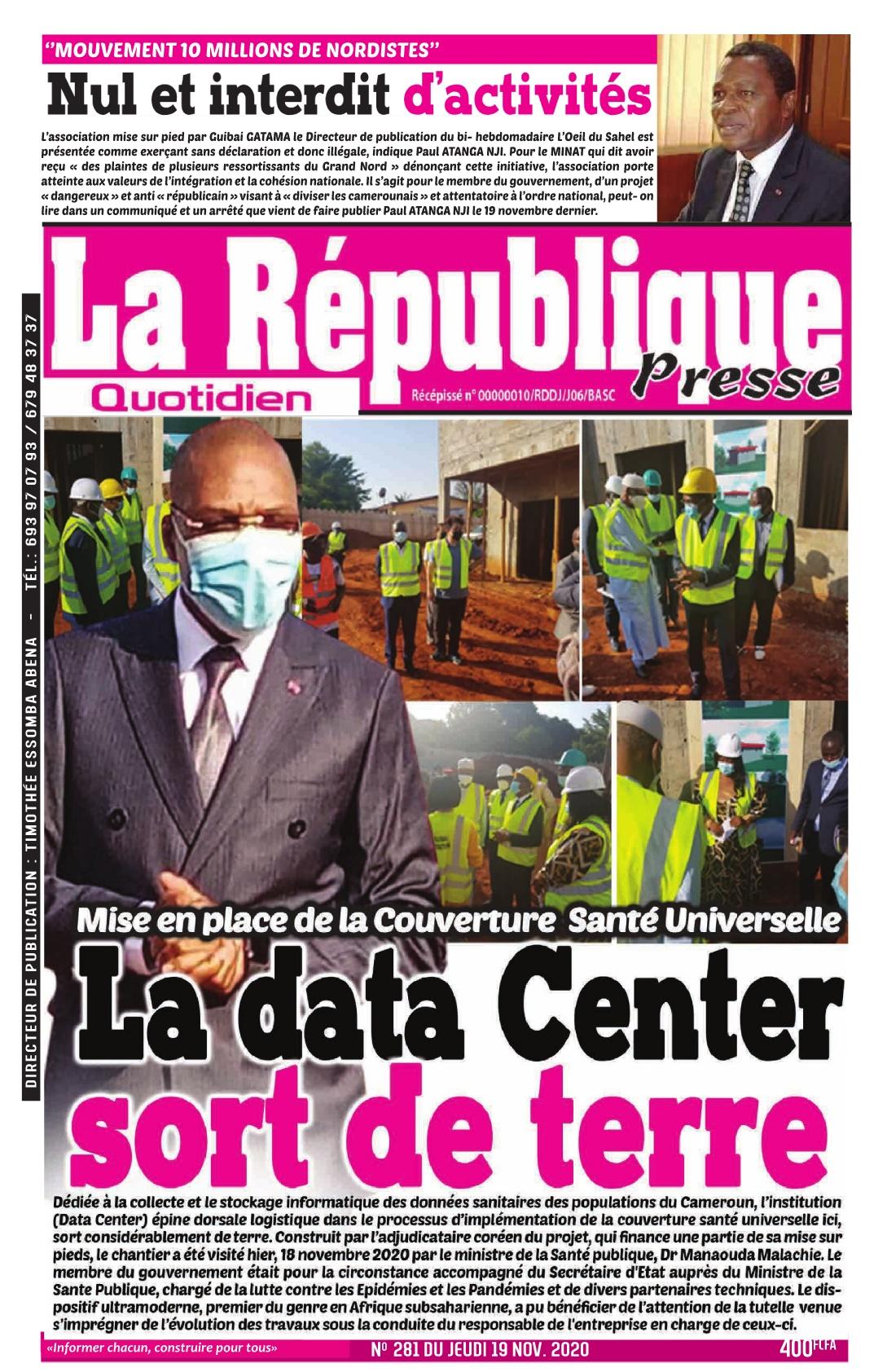 LA REPUBLIQUE PRESSE - 20/11/2020