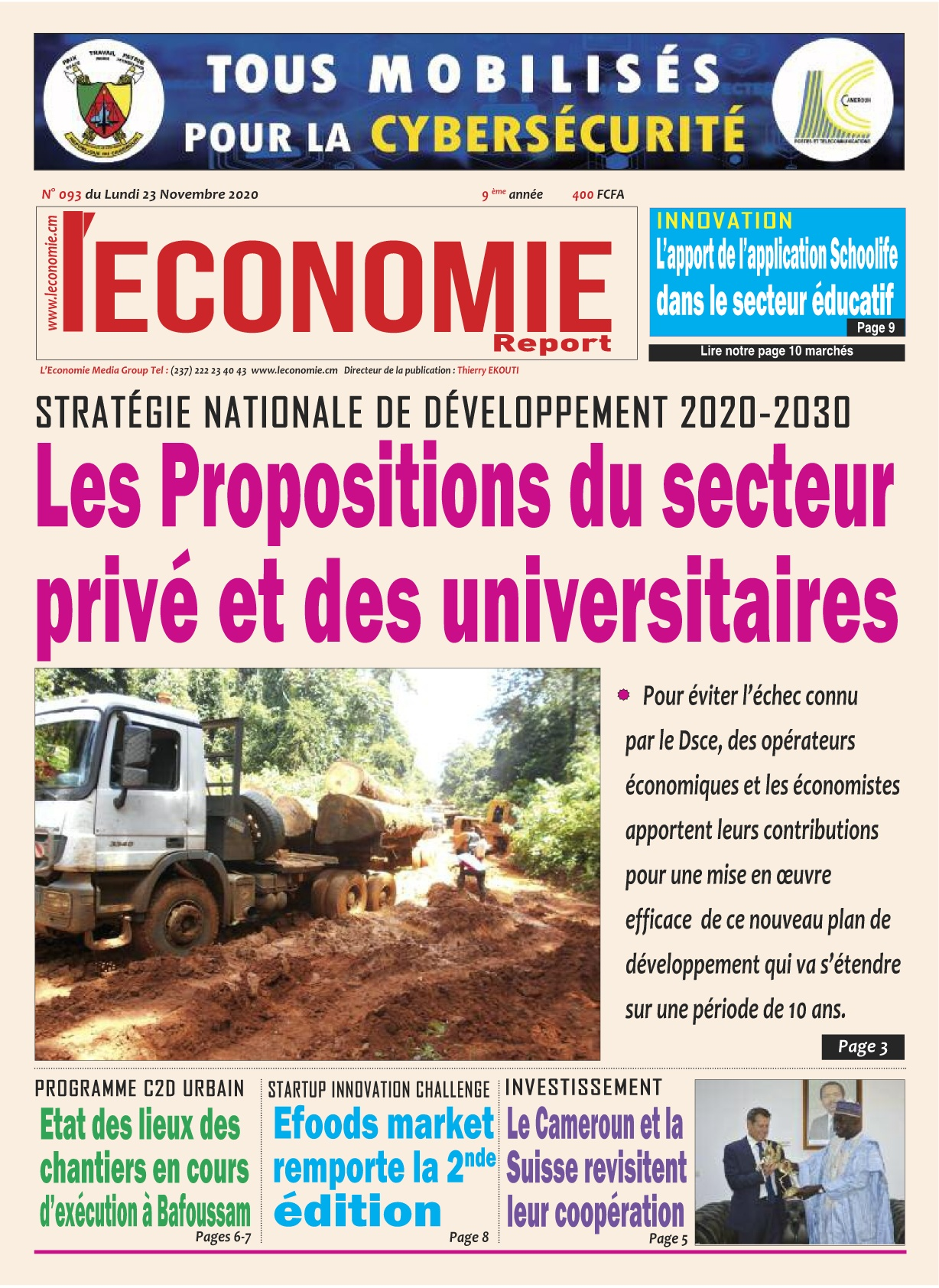 Le Quotidien de l'Economie - 24/11/2020
