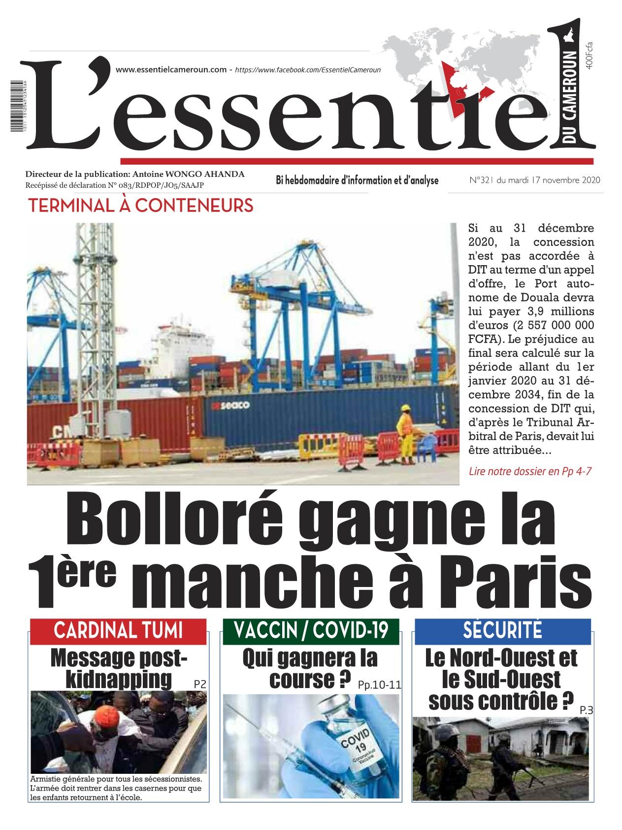 L'essentiel du Cameroun - 17/11/2020