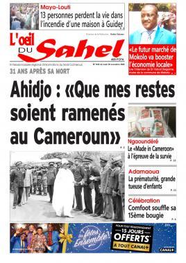 L'oeil du Sahel - 30/11/2020