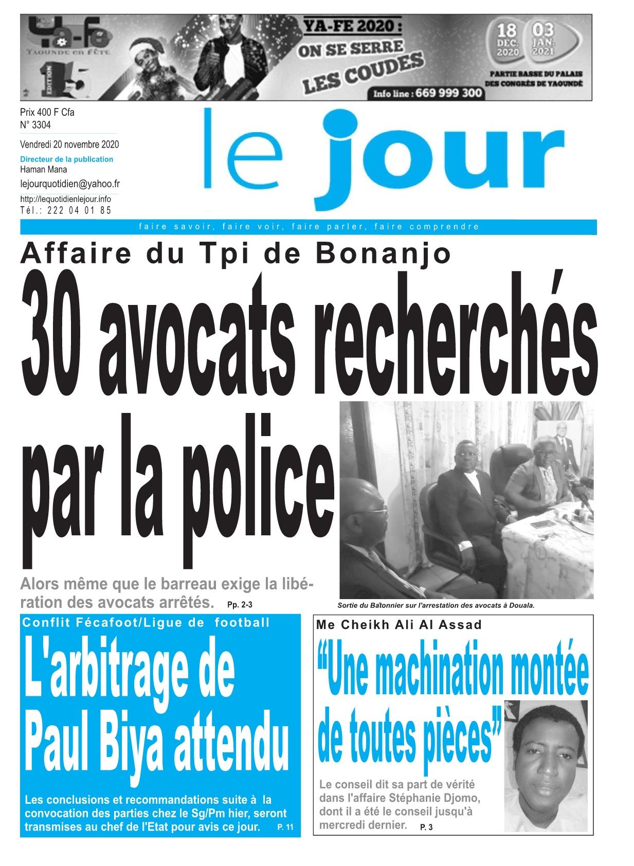 Le Jour - 20/11/2020