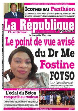 LA REPUBLIQUE PRESSE - 26/11/2020