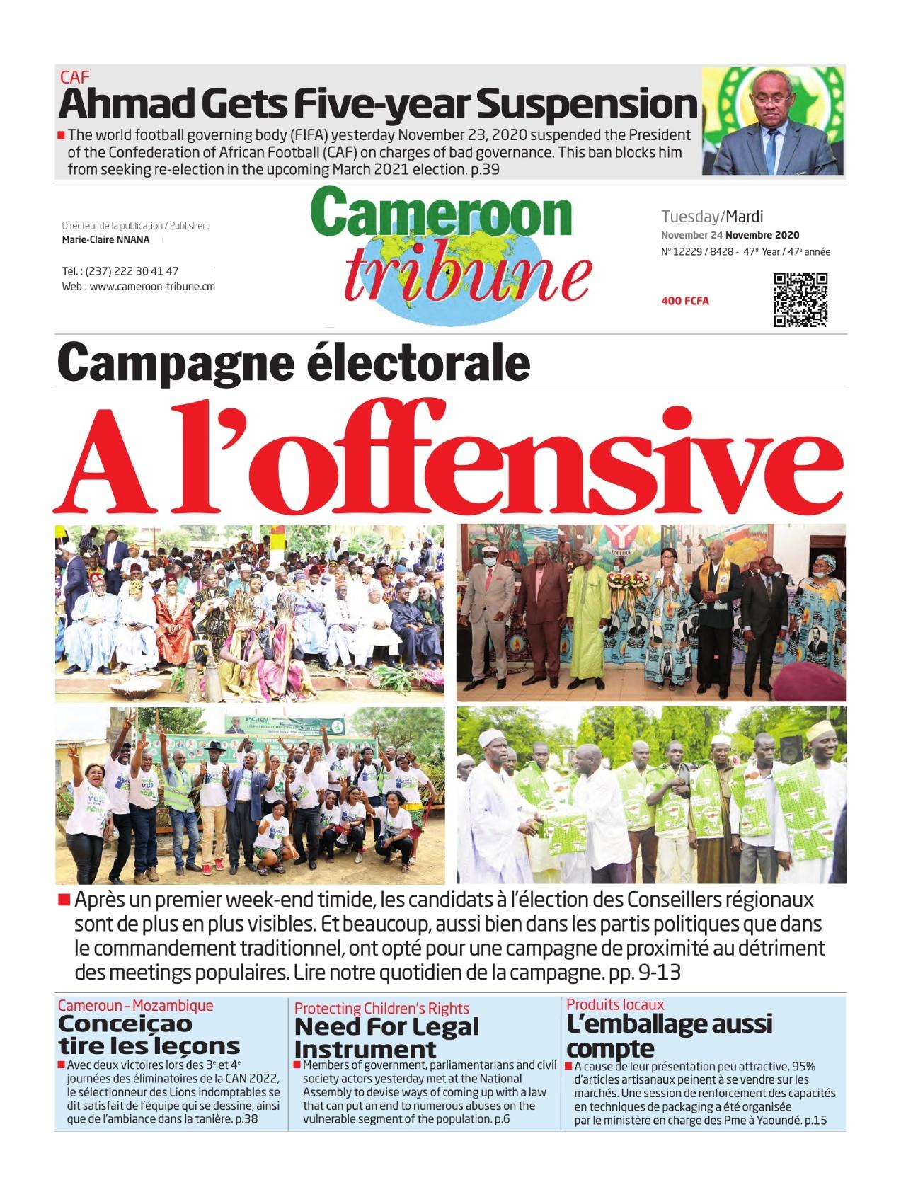 Cameroon Tribune - 24/11/2020