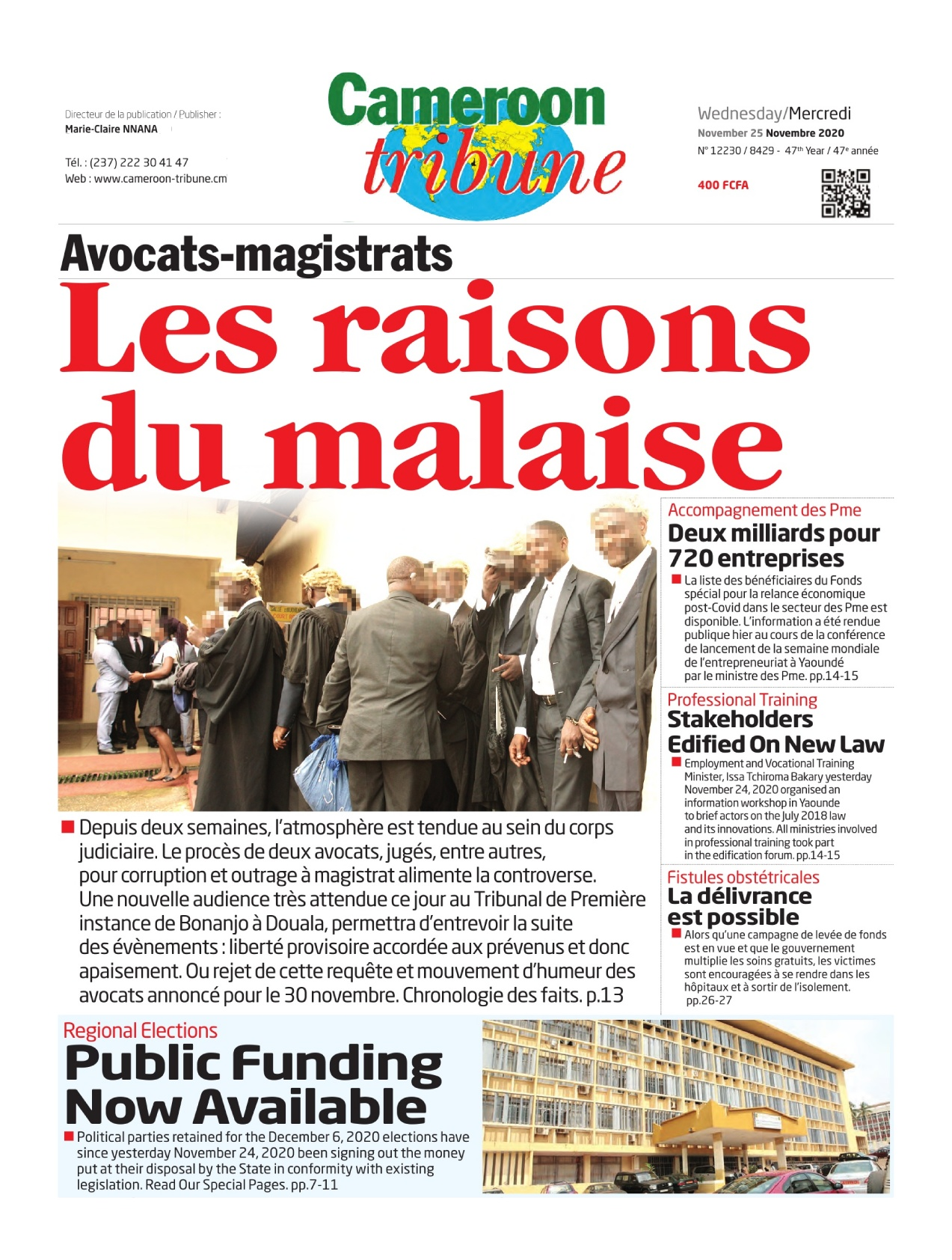 Cameroon Tribune - 25/11/2020