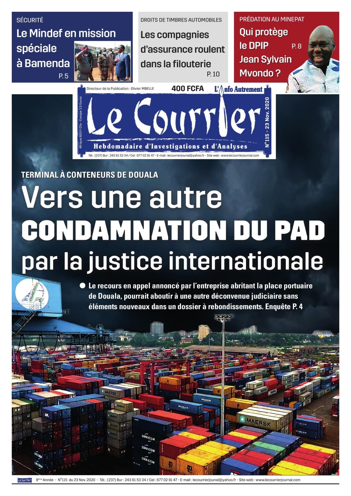 LE COURRIER - 23/11/2020