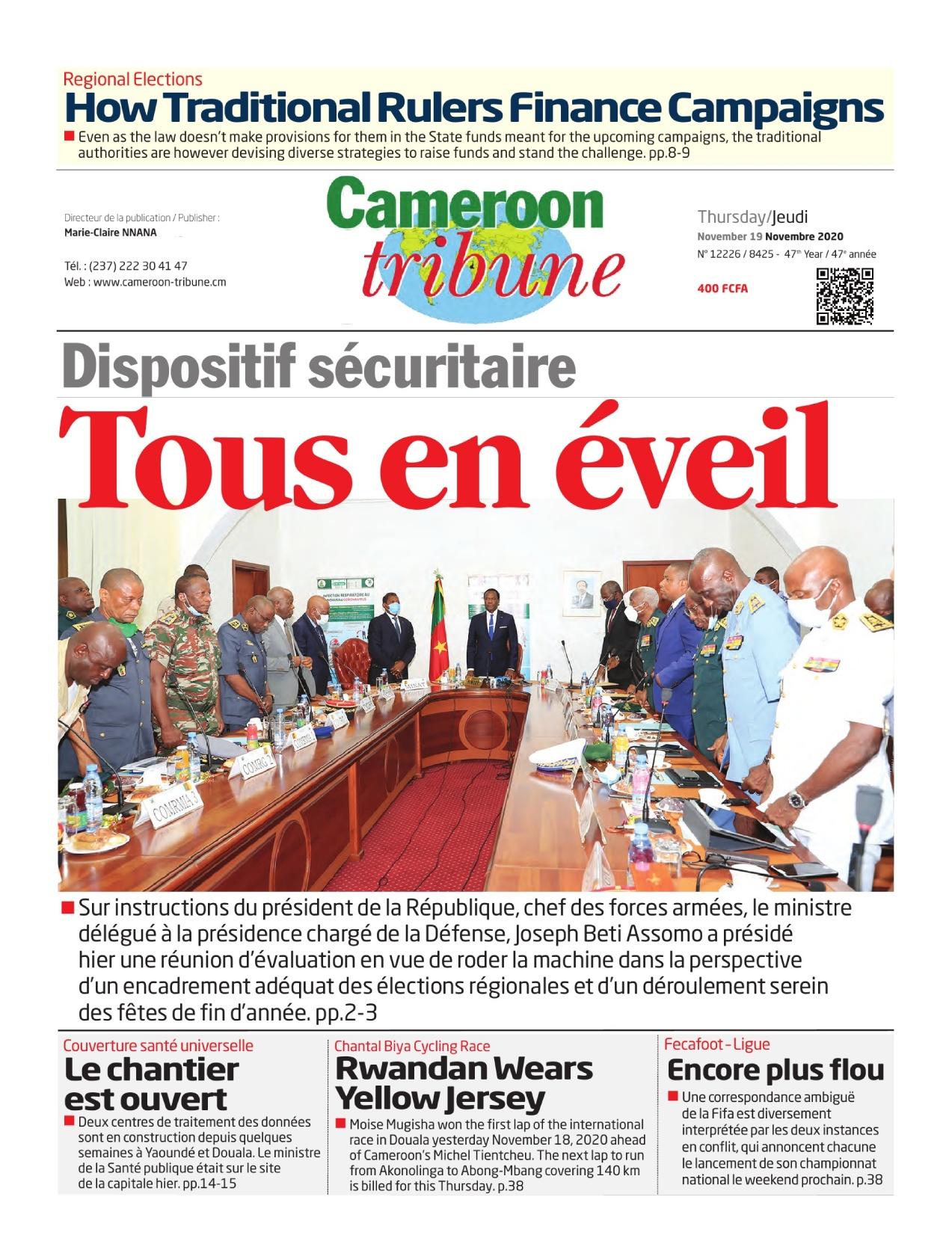 Cameroon Tribune - 19/11/2020