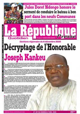 LA REPUBLIQUE PRESSE - 27/11/2020