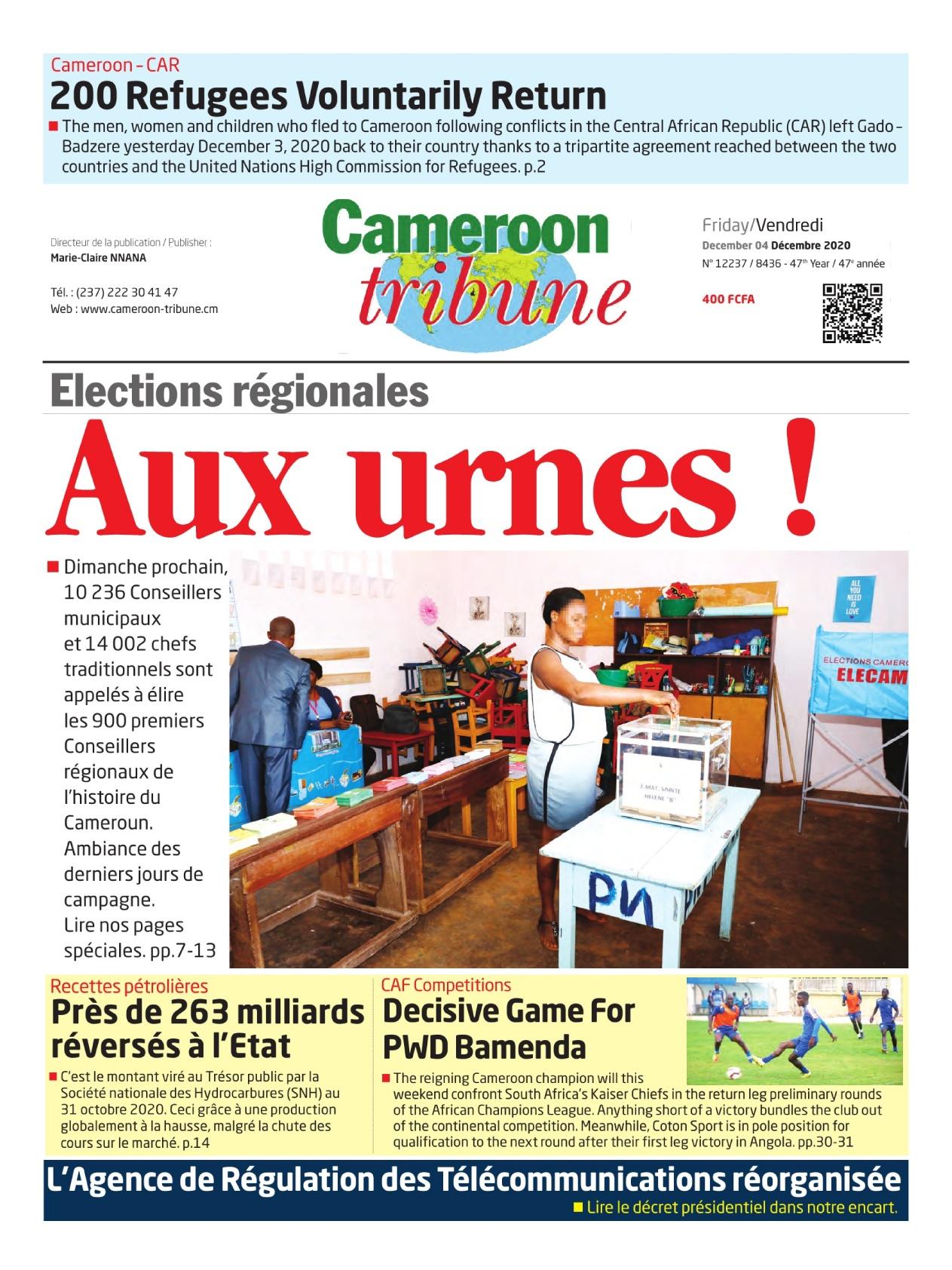 Cameroon Tribune - 04/12/2020