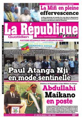 LA REPUBLIQUE PRESSE - 01/12/2020