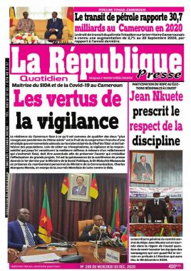 LA REPUBLIQUE PRESSE - 03/12/2020