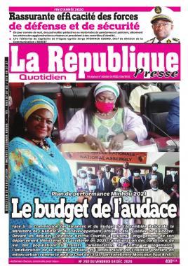 LA REPUBLIQUE PRESSE - 04/12/2020