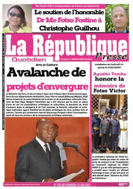 LA REPUBLIQUE PRESSE - 15/01/2021