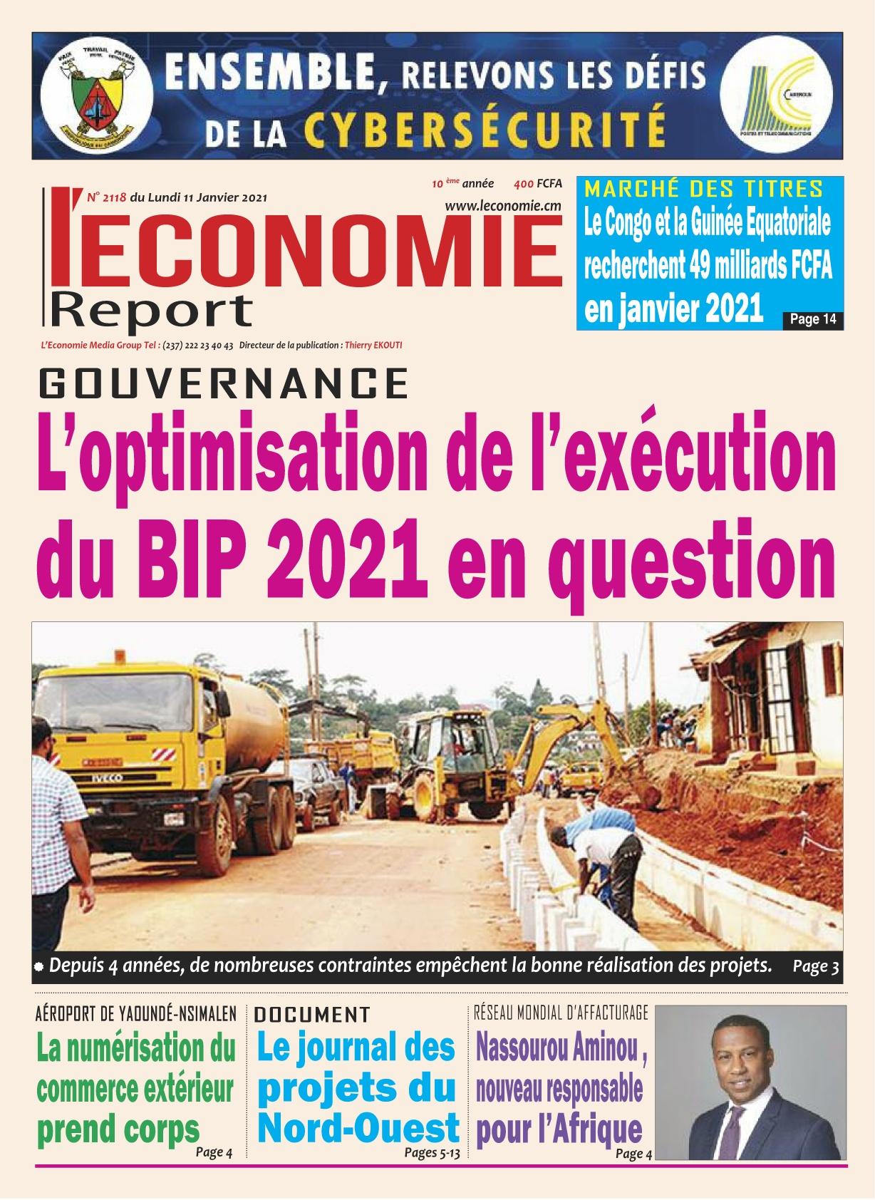 Le Quotidien de l'Economie - 11/01/2021