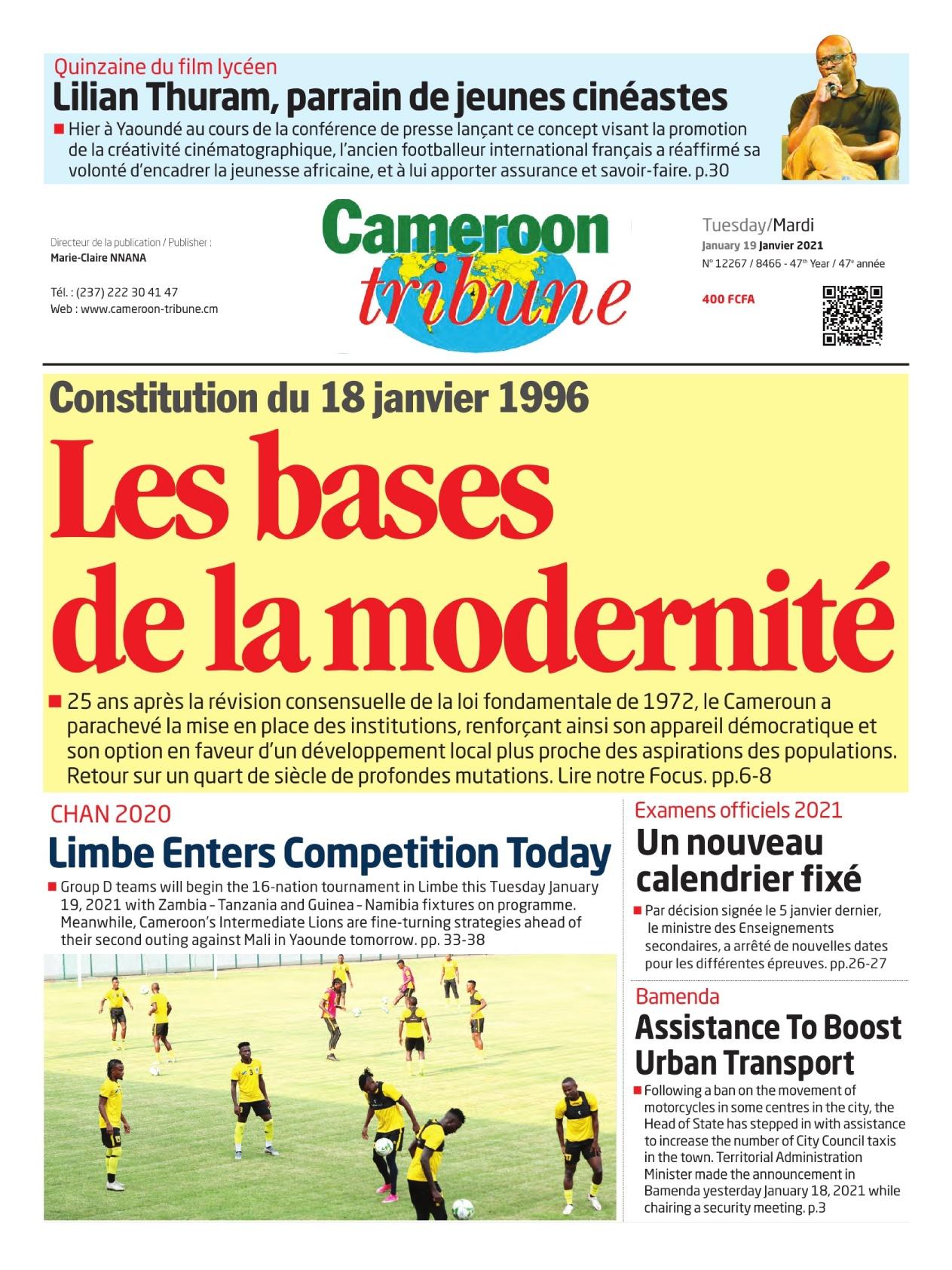 Cameroon Tribune - 19/01/2021