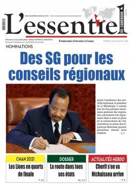 L'essentiel du Cameroun - 26/01/2021