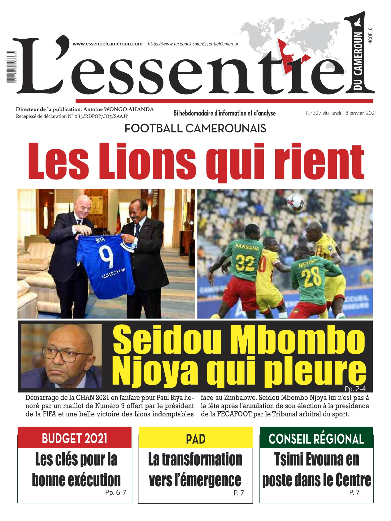 L'essentiel du Cameroun - 18/01/2021