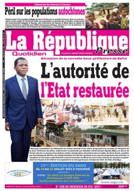LA REPUBLIQUE PRESSE - 24/02/2021