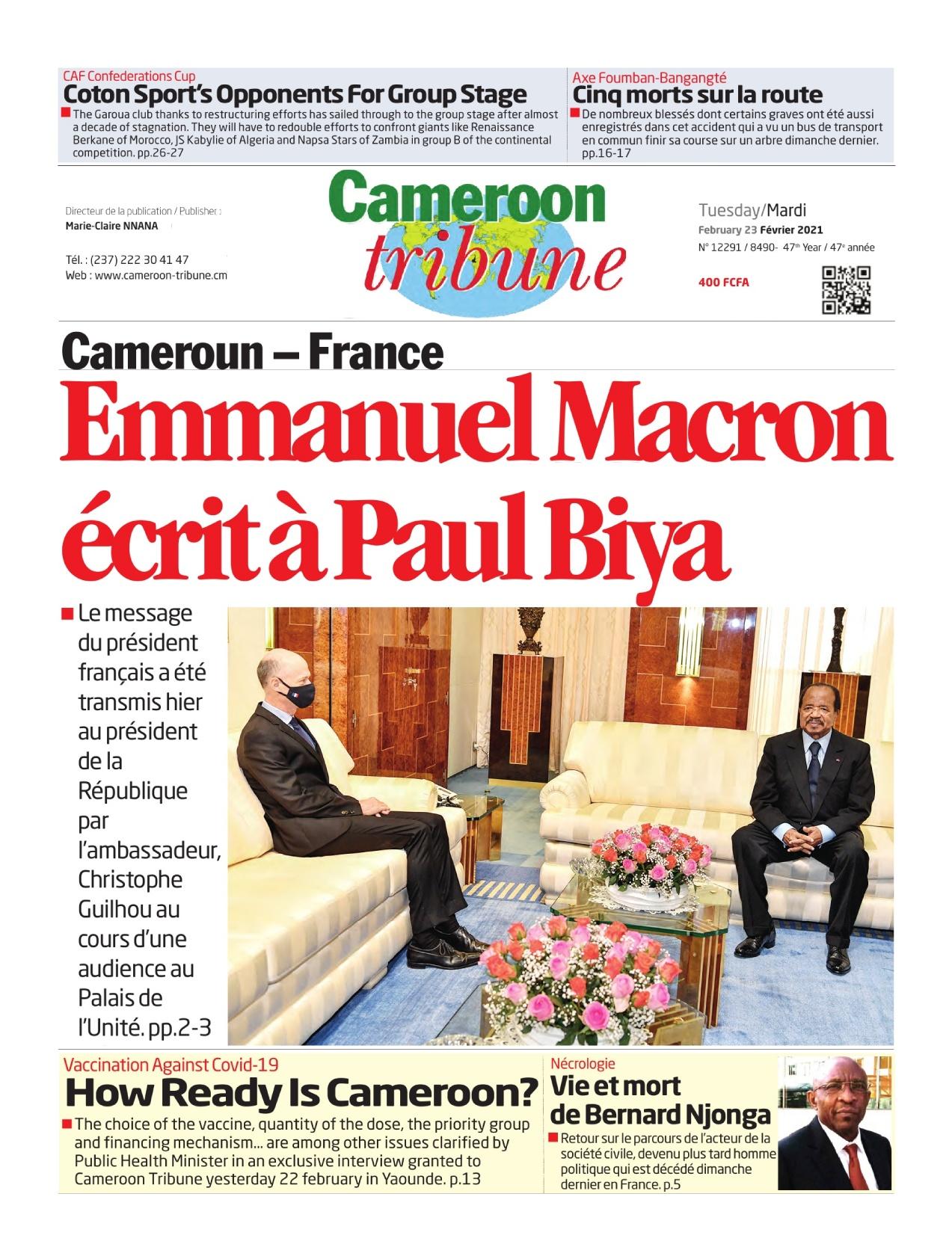 Cameroon Tribune - 23/02/2021