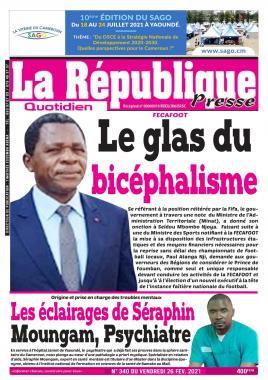 LA REPUBLIQUE PRESSE - 26/02/2021