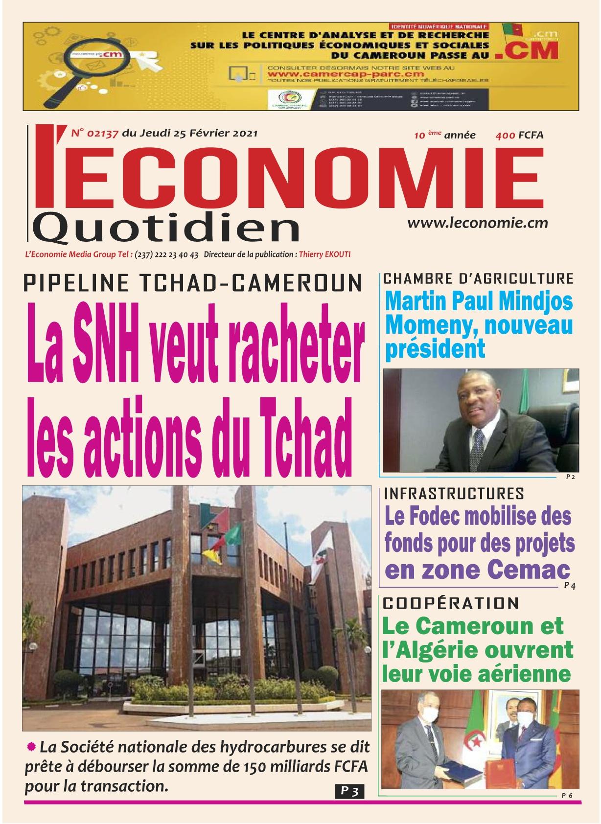 Le Quotidien de l'Economie - 25/02/2021