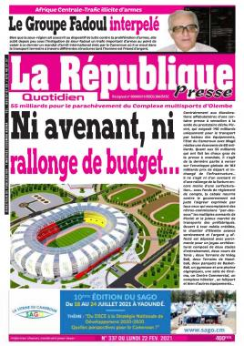 LA REPUBLIQUE PRESSE - 22/02/2021