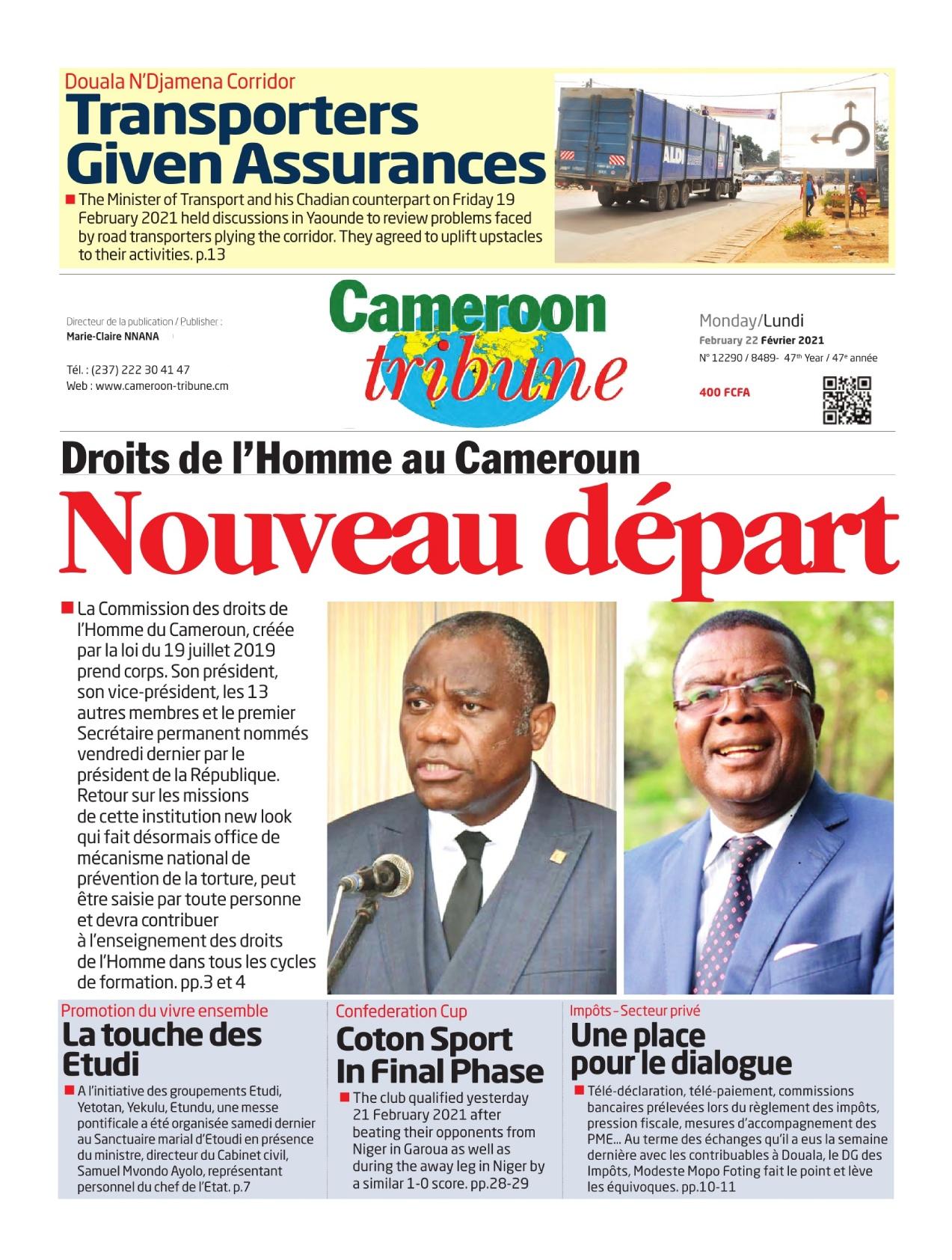 Cameroon Tribune - 22/02/2021