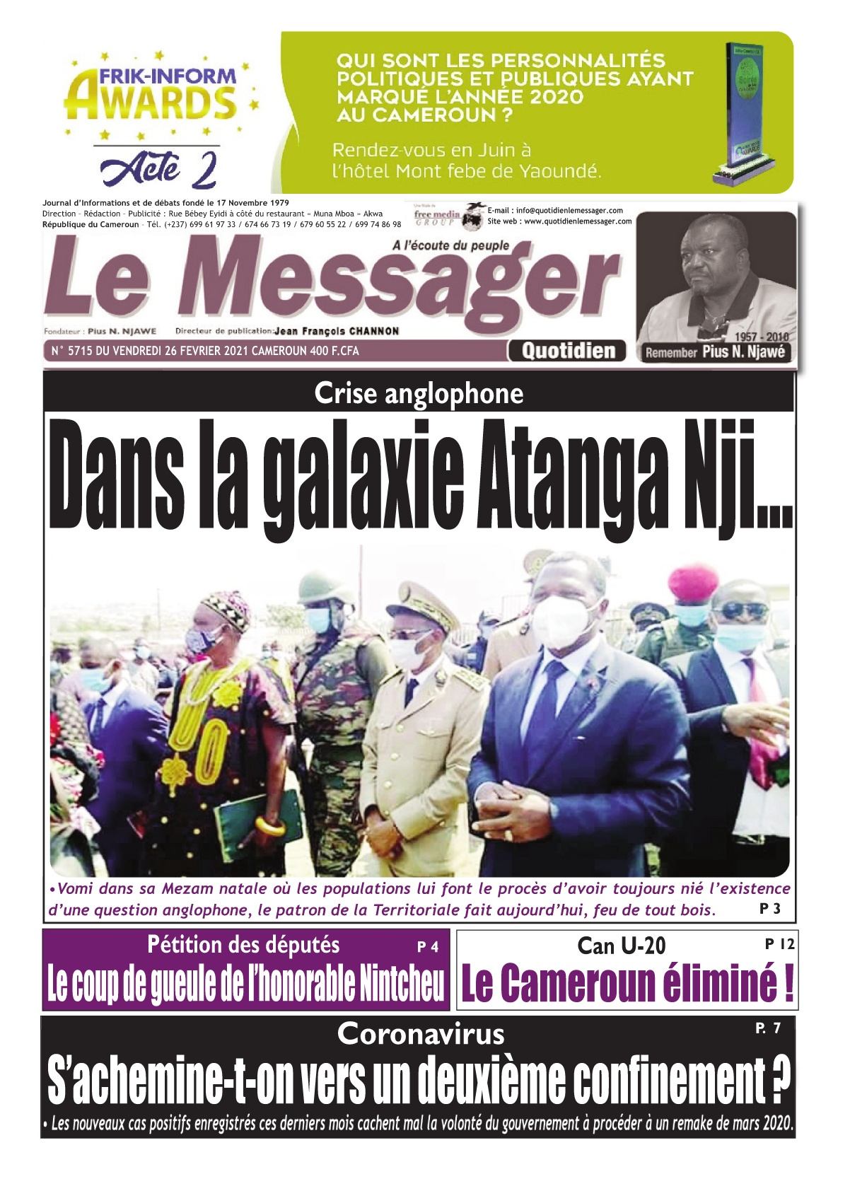 Le Messager - 26/02/2021