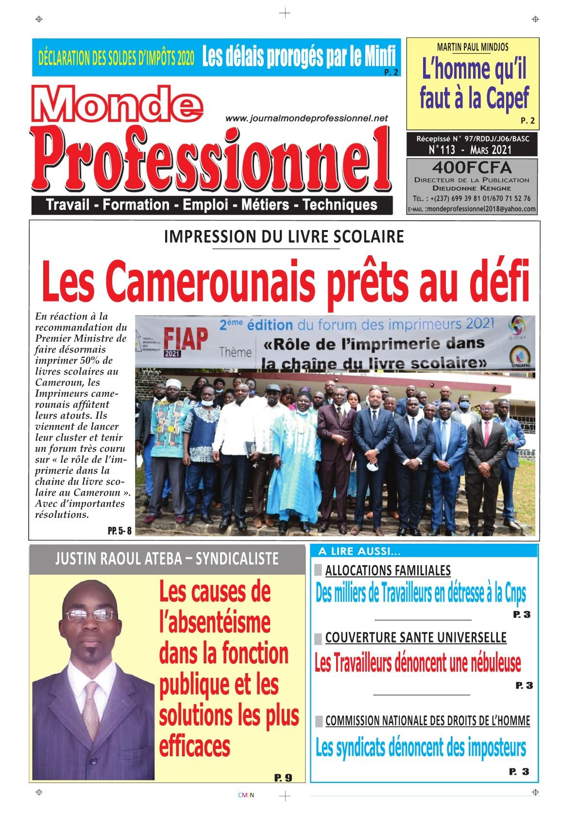 Monde Professionnel - 22/03/2021