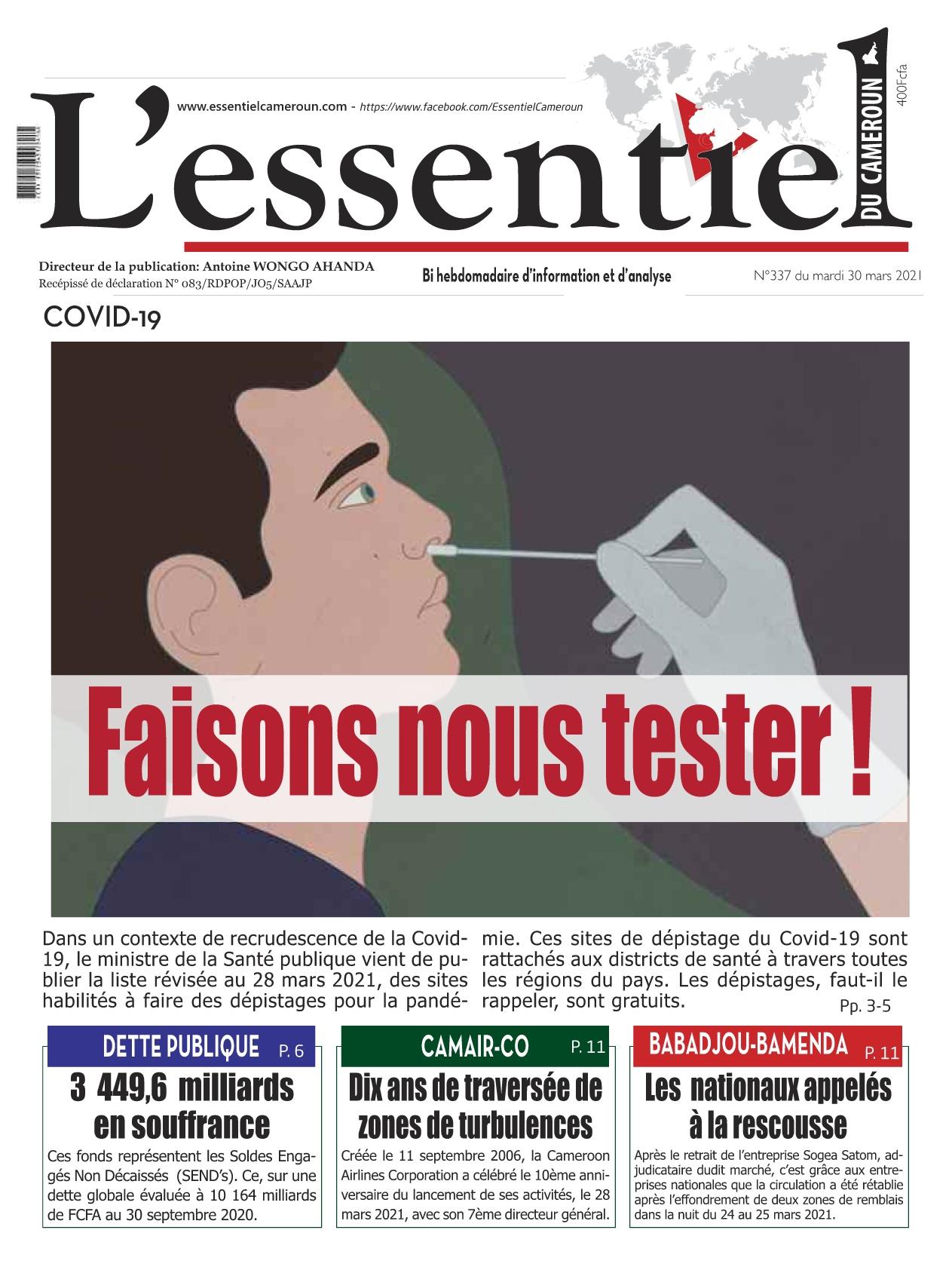 L'essentiel du Cameroun - 30/03/2021