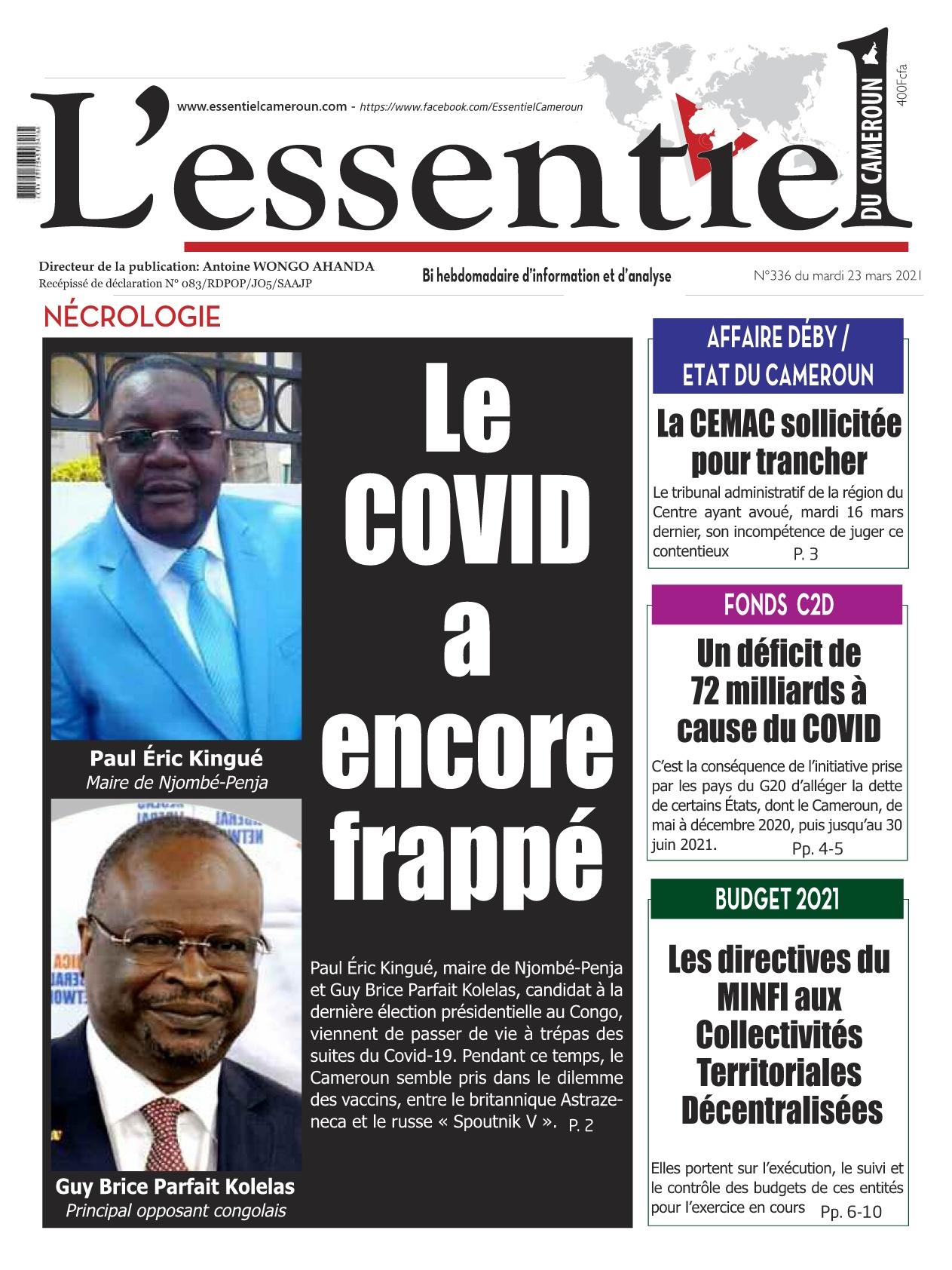 L'essentiel du Cameroun - 23/03/2021