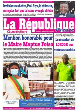 LA REPUBLIQUE PRESSE - 05/04/2021