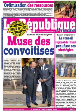 LA REPUBLIQUE PRESSE - 12/04/2021