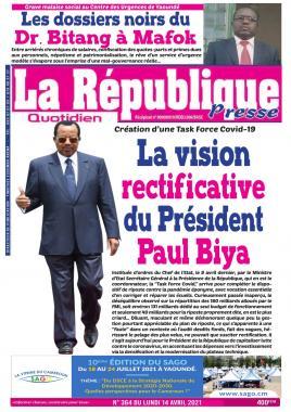 LA REPUBLIQUE PRESSE - 14/04/2021