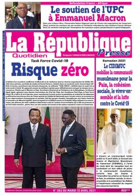 LA REPUBLIQUE PRESSE - 13/04/2021
