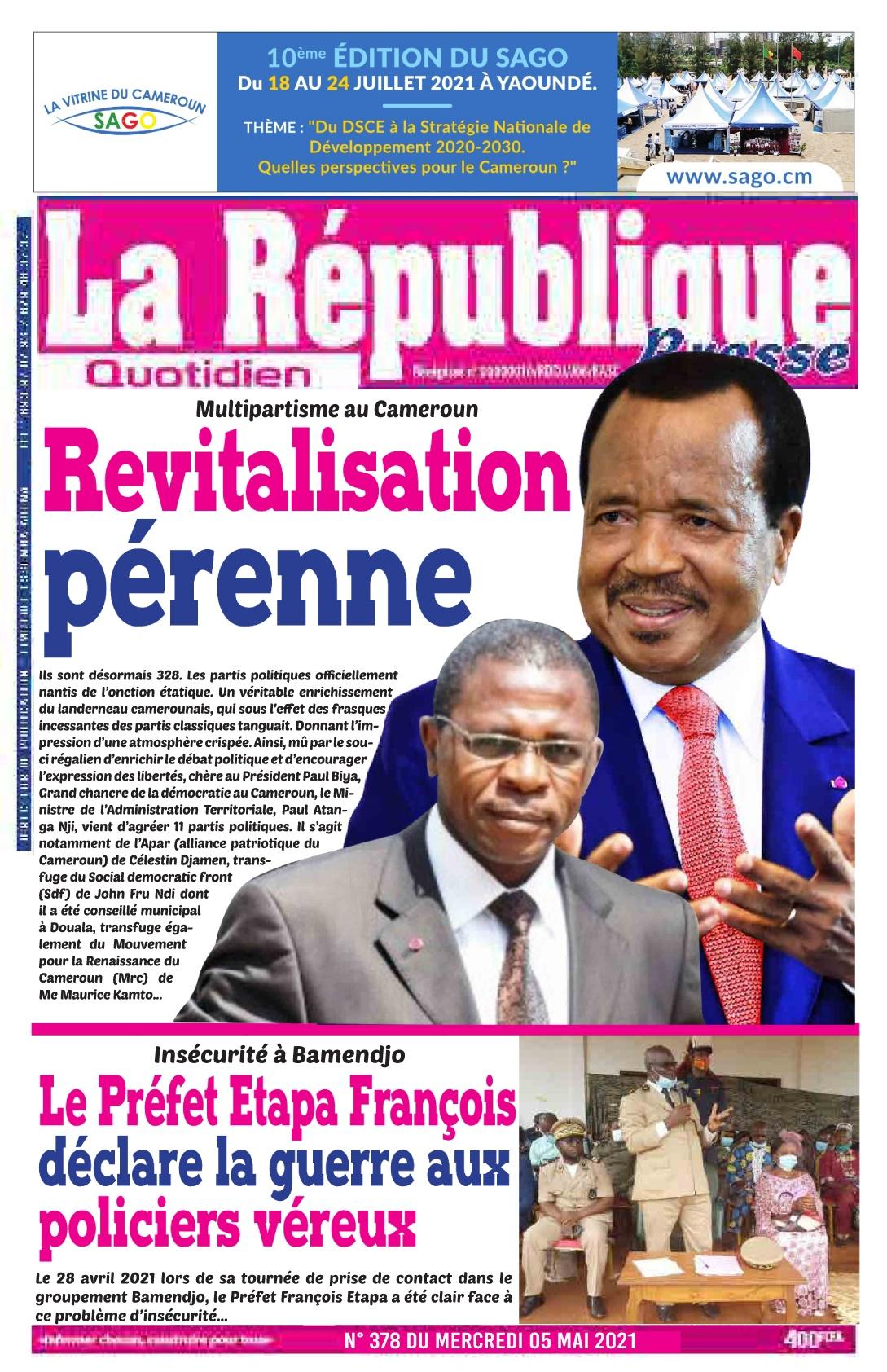 LA REPUBLIQUE PRESSE - 06/05/2021