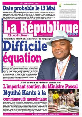 LA REPUBLIQUE PRESSE - 05/05/2021