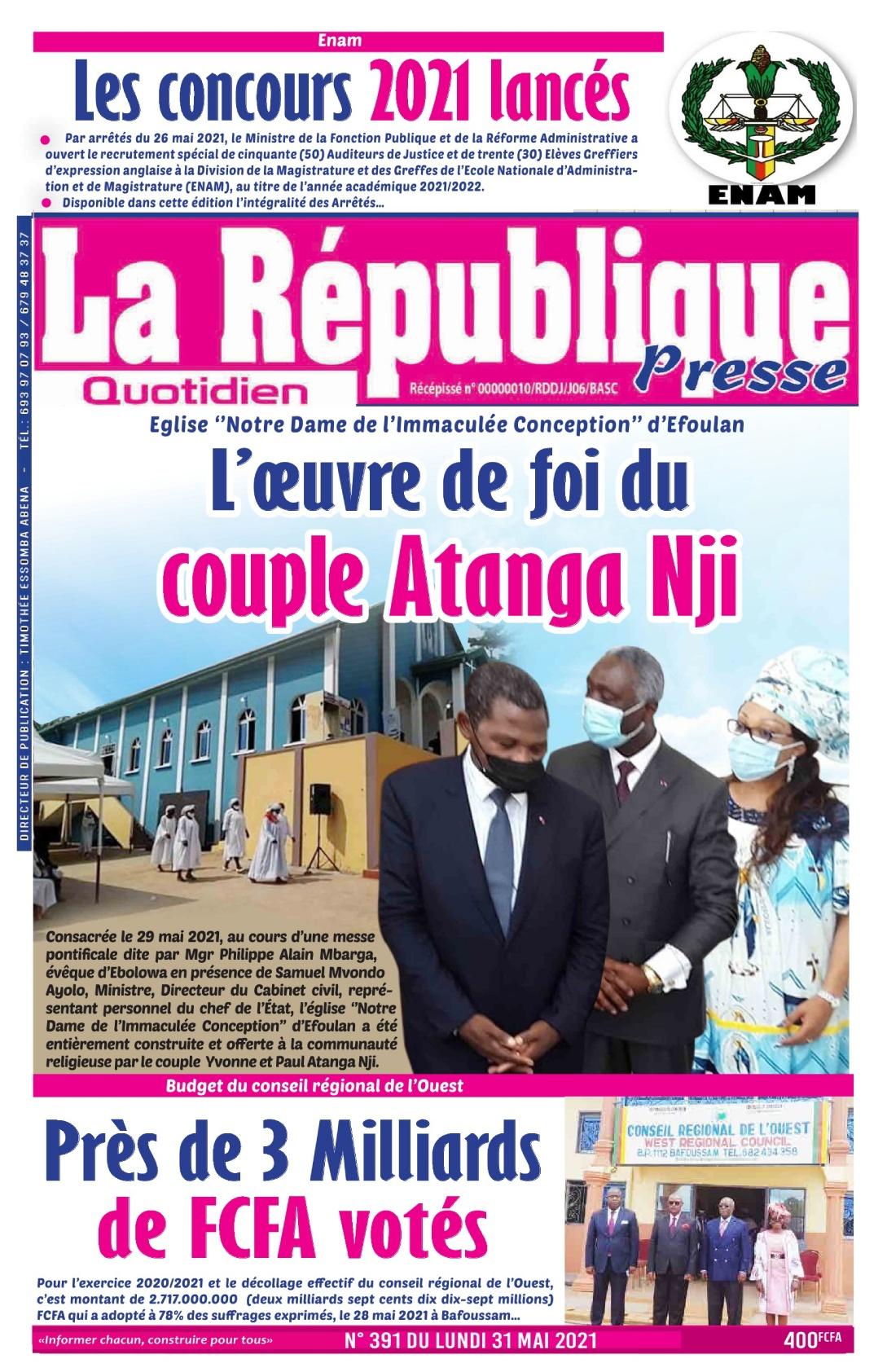 LA REPUBLIQUE PRESSE - 31/05/2021