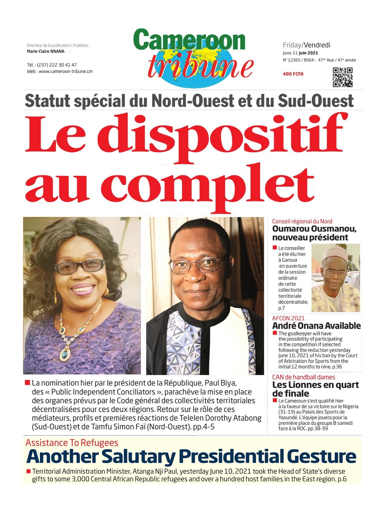Cameroon Tribune - 11/06/2021