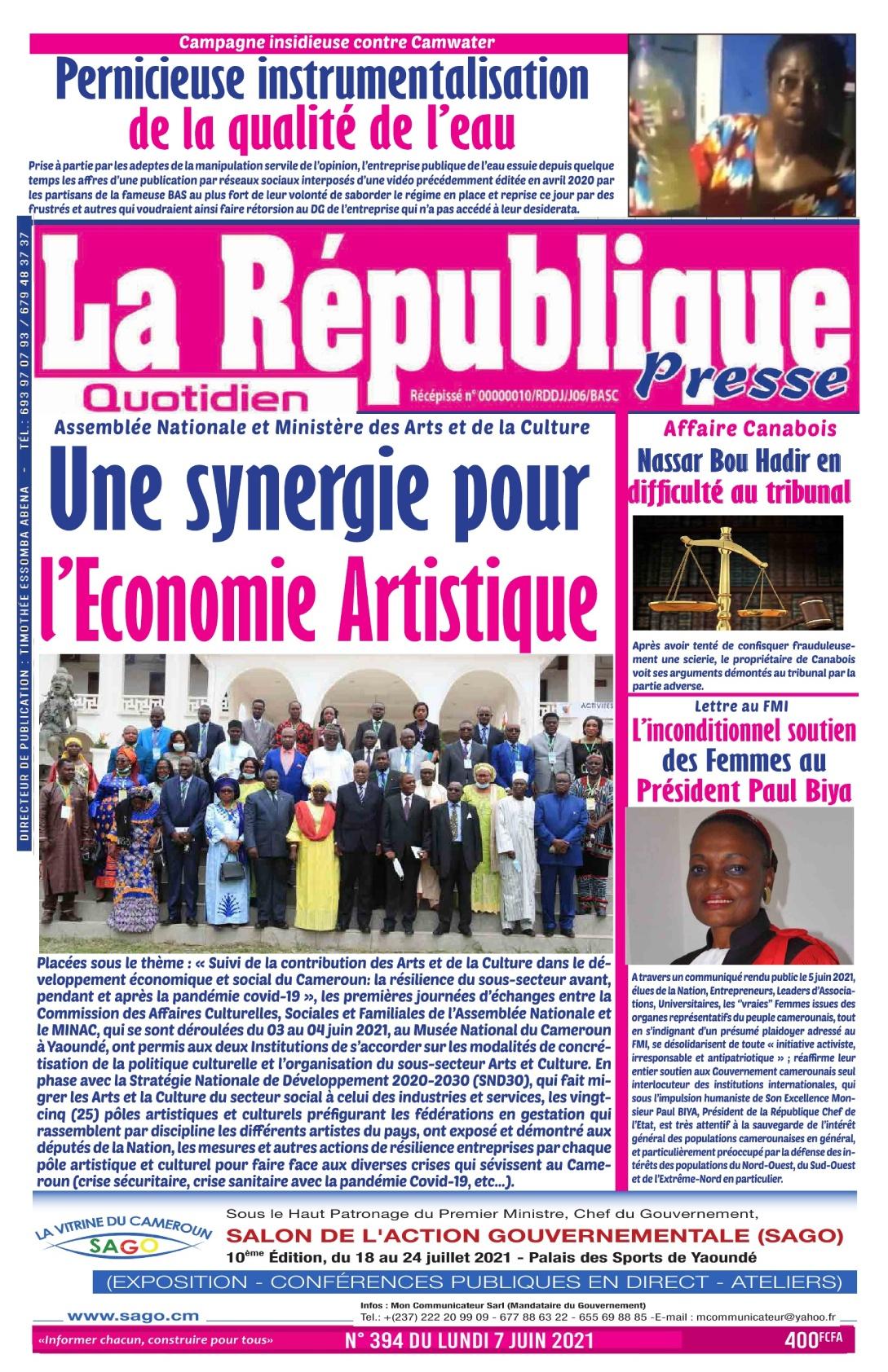 LA REPUBLIQUE PRESSE - 07/06/2021