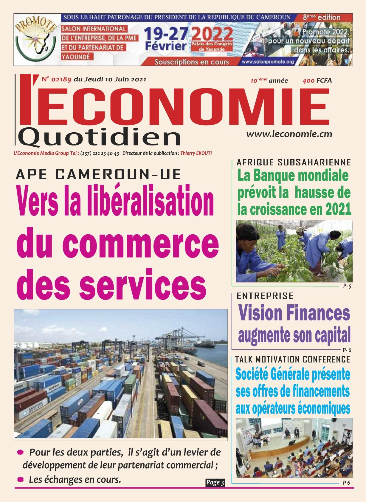 Le Quotidien de l'Economie - 10/06/2021