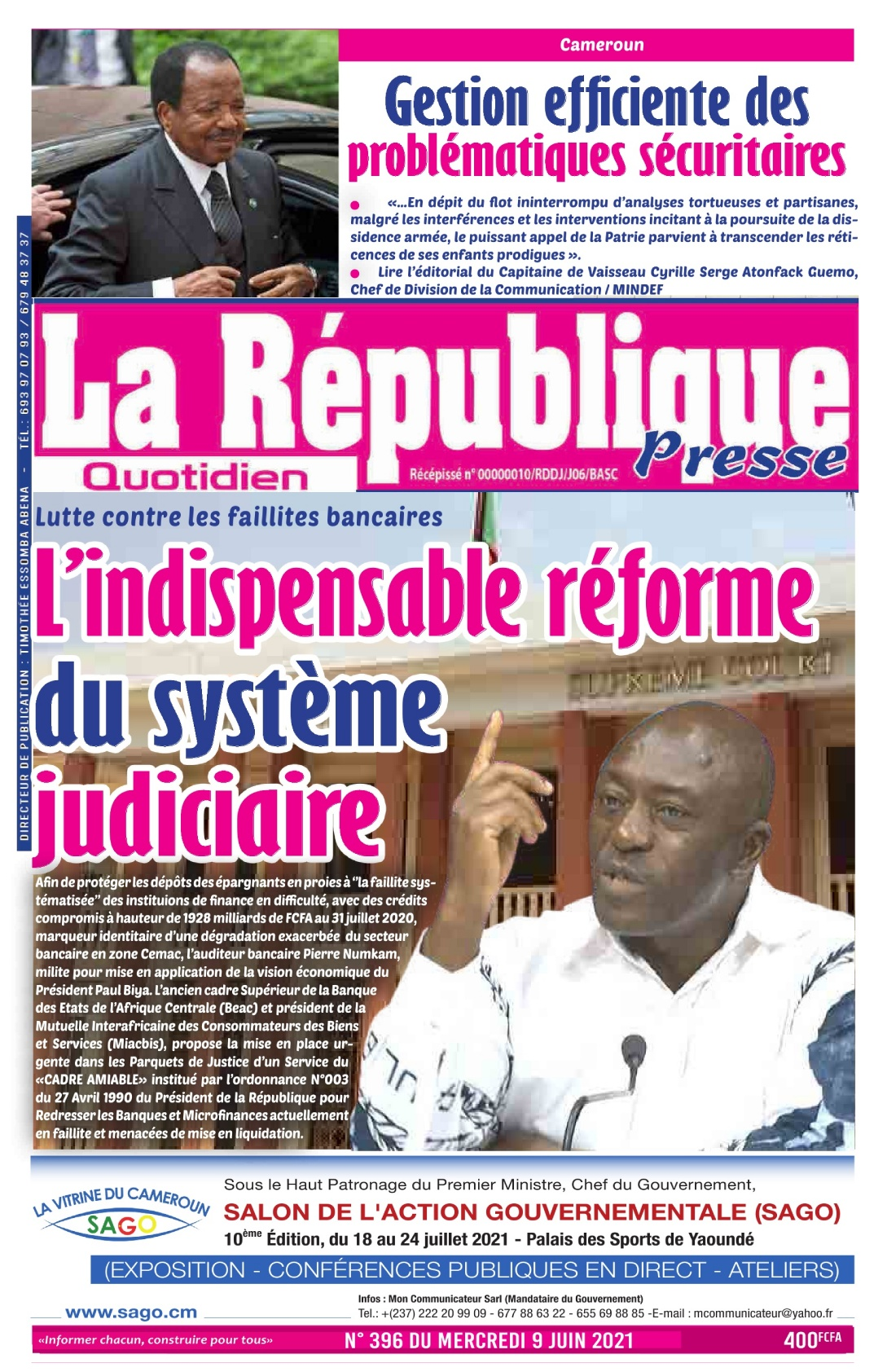 LA REPUBLIQUE PRESSE - 09/06/2021