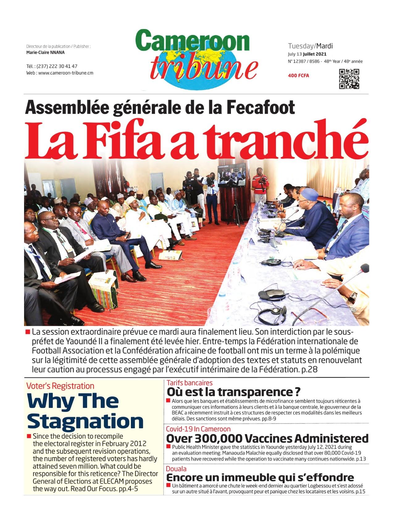 Cameroon Tribune - 13/07/2021