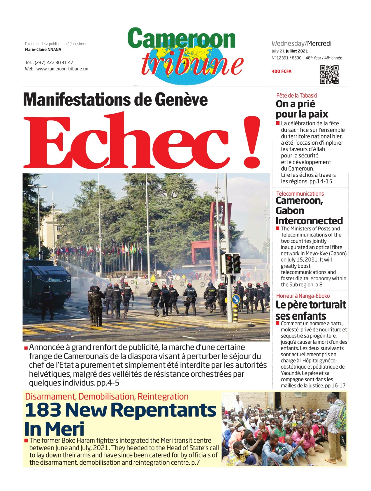 Cameroon Tribune - 21/07/2021