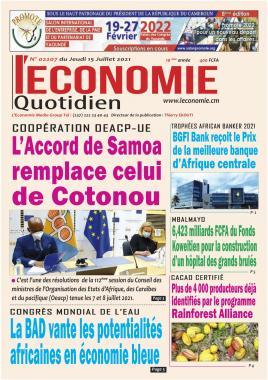 Le Quotidien de l'Economie - 15/07/2021