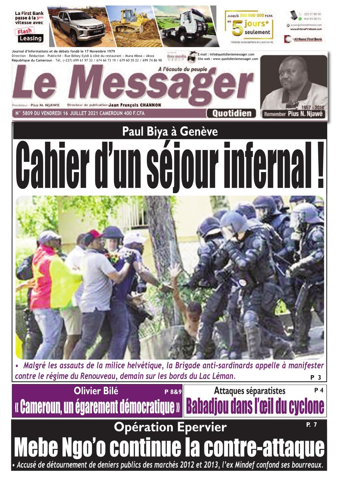 Le Messager - 16/07/2021
