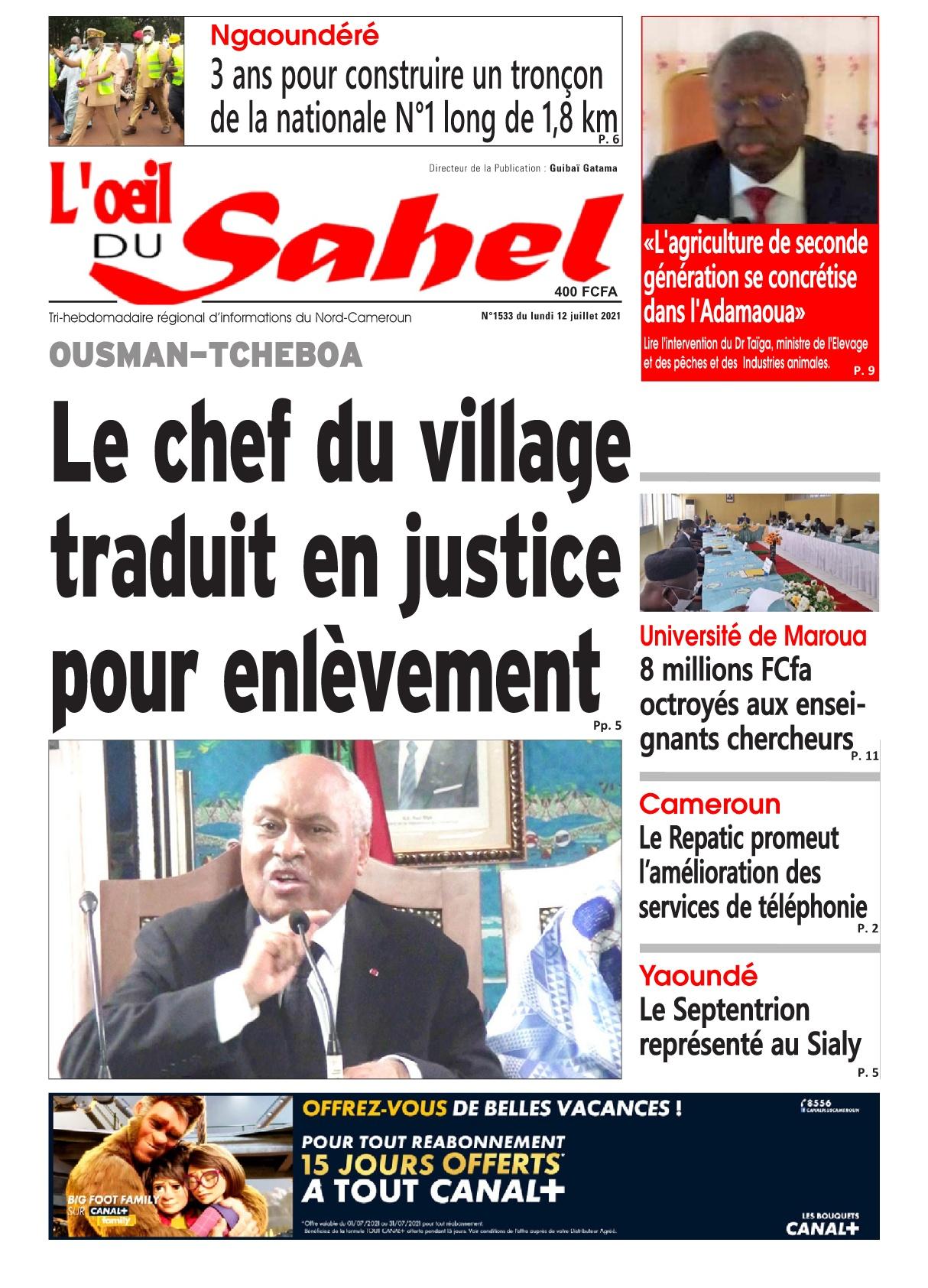 L'oeil du Sahel - 12/07/2021