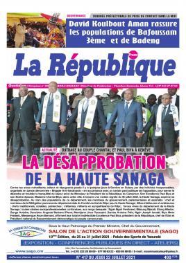 LA REPUBLIQUE PRESSE - 23/07/2021