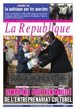 LA REPUBLIQUE PRESSE - 29/07/2021